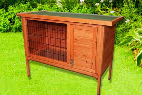 Who Needs Shops - Single wooden rabbit hutch - Save 71%