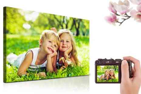 Printerpix - Personalised Canvas Print in Choice of Size - Save 8%