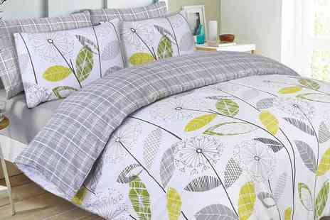 Groupon Goods Global GmbH - Dandelion Check Reverse Duvet Set - Save 0%