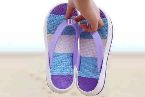 Groupon Goods Global GmbH - Striped Thick Soled Beach Slippers - Save 0%