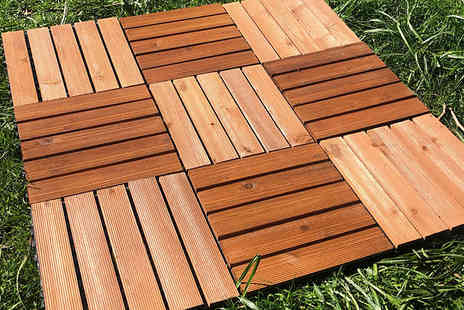 Home Season - Easy Click Wooden Deck Tiles 10, 20, 30, 40 or 50 Pack - Save 50%