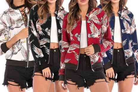 Blu Apparel - Flamingo bomber jacket choose from four colours - Save 29%