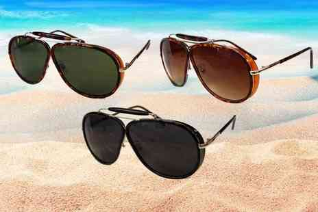 Verso Fashion - Pair of Courtney UV protected aviator sunglasses - Save 75%