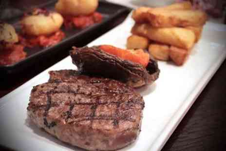 Reids Billericay - 8oz Rump Steak Meal with Glass of Wine for Two or Four - Save 46%