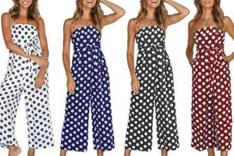 Groupon Goods Global GmbH - Polka Dot Jumpsuit - Save 0%