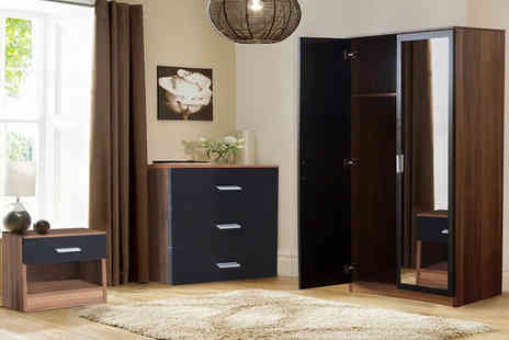Bells Bay - Three piece matte bedroom furniture set choose from four colours - Save 50%