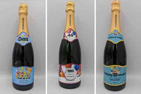 Say it with Champers - Personalised bottle of birthday champagne - Save 36%