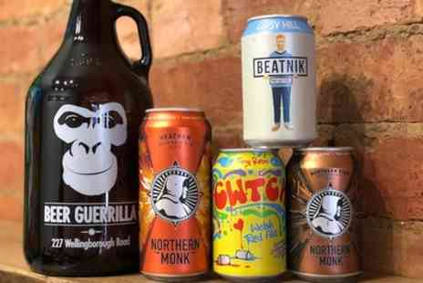 Beer Guerrilla - Beer Tasting Experience with Hot Nachos and Salsa Plus Corkage for Two or Four - Save 42%