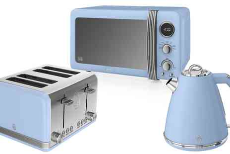 Groupon Goods Global GmbH - Swan Three Piece Retro Kitchen Set in Choice of Colour - Save 35%