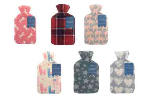 Groupon Goods Global GmbH - One or Two Fleece Covered Hot Water Bottles in Choice of Design - Save 0%