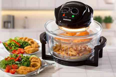 Groupon Goods Global GmbH - Daewoo 12L 1300W Halogen Air Fryer with Timer, Self Cleaning Function and Accessories - Save 33%