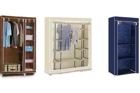Groupon Goods Global GmbH - Single, Double or Triple Canvas Wardrobe - Save 0%