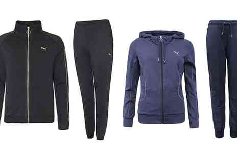 Groupon Goods Global GmbH - Puma Hooded or Zip Front Lurex Trim Tracksuit - Save 0%