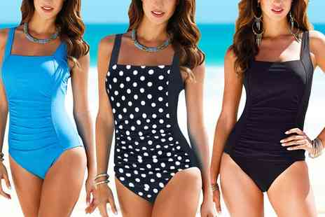 Groupon Goods Global GmbH - Womens Retro Style Tummy Control Swimsuit - Save 0%