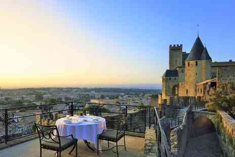 Hotel de la Cite Carcassonne - Five Star Luxury Collection: Upscale Hotel in Heart of Medieval Citadel for two - Save 62%