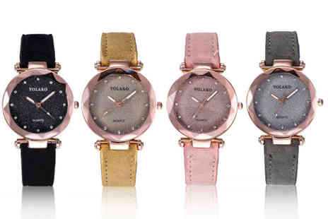Taylors Jewellery - Ladies starry sky dial watch choose from four colours - Save 73%