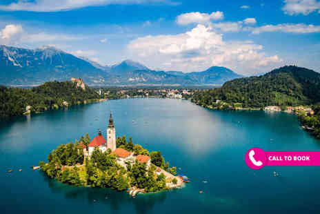 Book It Now Holidays - Two nights half board Lake Bled, Slovenia getaway with flights - Save 26%