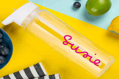 Personalised Gifts Market - Personalised Island inspired water bottle with detachable fruit infuser - Save 65%