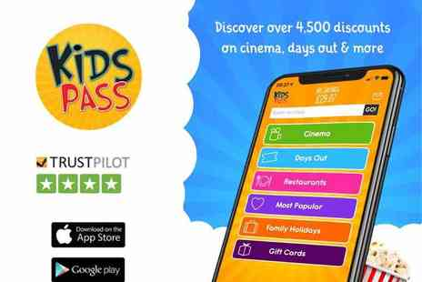 Kids Pass - 12 month Kids Pass to 1000s of attractions, cinemas and restaurants - Save 32%