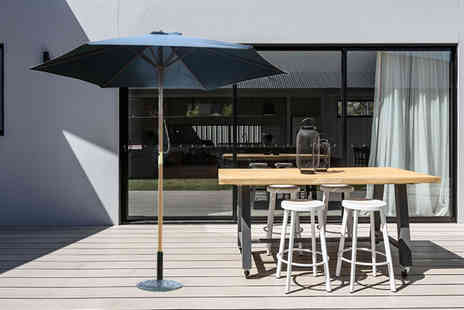 Mhstar - Outsunny wooden parasol choose from three colours - Save 61%