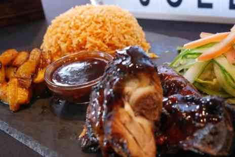 Jerk N Jollof - Two Course Meal with Rum Punch for Two or Four - Save 45%