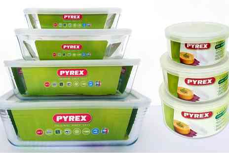 Groupon Goods Global GmbH - Six, Eight or Fourteen Piece Pyrex Glass Container Set - Save 45%
