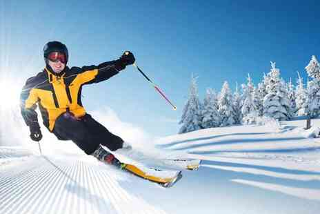 Skizone - Private indoor ski or snowboard lesson for one or family lesson of up to six people - Save 61%