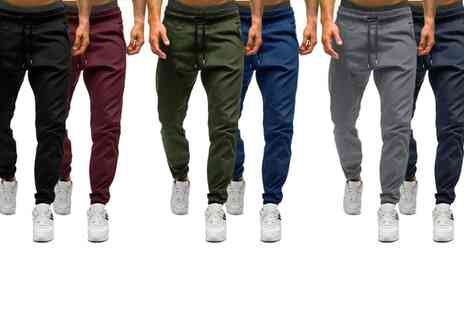 Groupon Goods Global GmbH - Two Pack of Mens Classic Joggers - Save 0%
