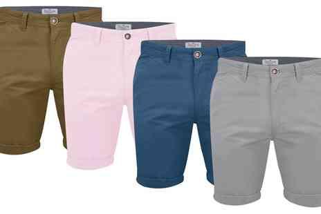 Groupon Goods Global GmbH - One or Two Pairs of Stallion Summer Chino Shorts - Save 52%