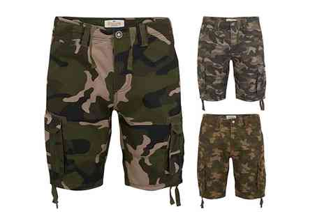 Groupon Goods Global GmbH - Stallion Army Camouflage Cargo Shorts in Choice of Colour and Size - Save 63%