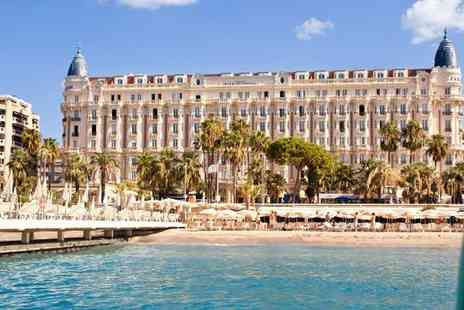 InterContinental Carlton Cannes - Five Star Luxury Collection Lavish Glamour in A List Hotspot for two - Save 80%