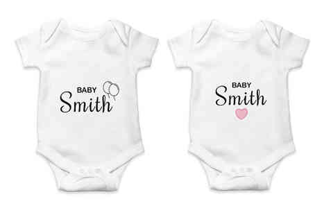 Personalised Gifts Market - Personalised babygrow - Save 65%