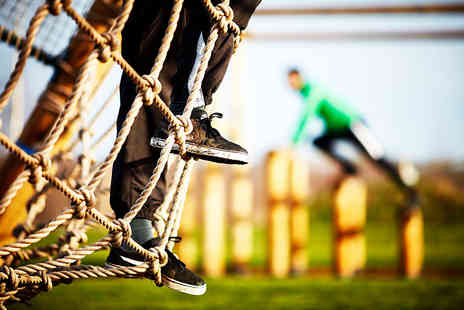Love 2 Stay - One hour assault course session and a stone baked pizza for one - Save 40%