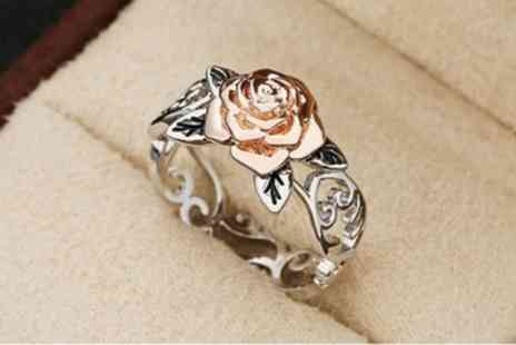 Groupon Goods Global GmbH - Floral Ring in Choice of Size - Save 0%