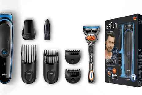 Groupon Goods Global GmbH - Braun MGK3045 Multi Grooming Seven in One Kit with Optional Shaver Plug - Save 41%