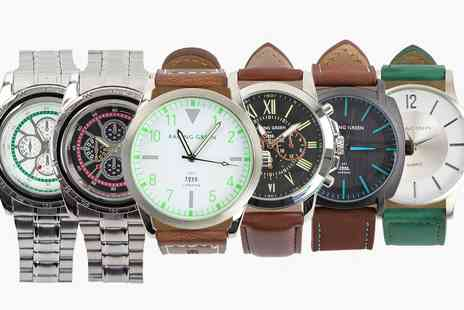 Groupon Goods Global GmbH - Racing Green Mens Watch - Save 0%