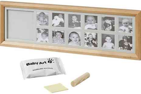 Groupon Goods Global GmbH - Baby Art My First Year Cast Frame - Save 0%