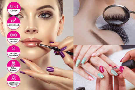 Alpha Academy - Makeup, nail technician and eyelash extension course - Save 95%
