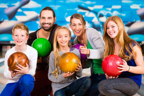 M&Ds Theme Park - Game of bowling for up to four people with a soft drink each - Save 43%