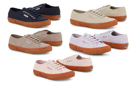 Brands Store - Pair of Superga gum sole trainers choose from five colours - Save 43%