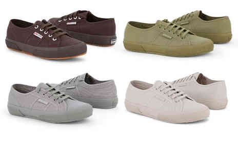 Brands Store - Pair of Superga classic trainers choose from four colours - Save 43%