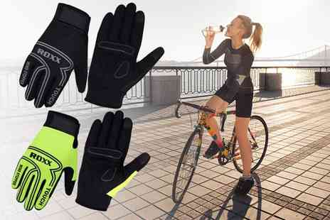Cristal Roxx - Pair of gel padded cycling gloves - Save 53%