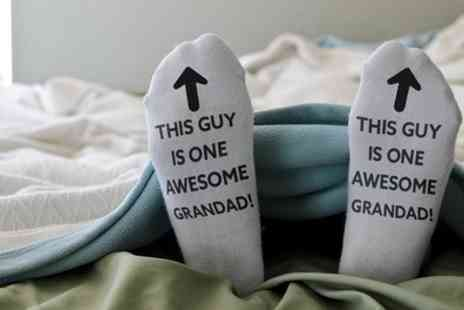 Groupon Goods Global GmbH - One, Two or Four Pairs of Awesome Grandad Socks - Save 57%