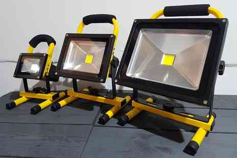 Groupon Goods Global GmbH - One or Two 10W, 20W or One 30W Led Rechargeable Flood Light - Save 0%