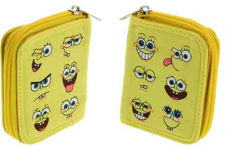 Groupon Goods Global GmbH - Sponge Bob Multi Character Deluxe Zip Wallet - Save 0%