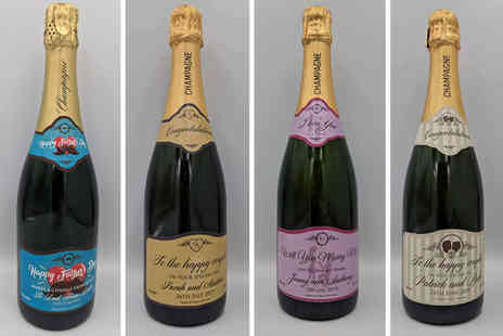 Say it With Champers - Personalised champagne bottle - Save 36%