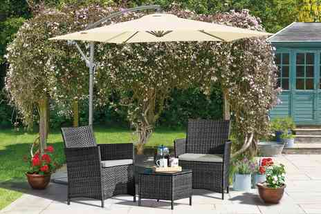 Groupon Goods Global GmbH - Seville Three Piece Rattan Effect Garden Furniture Set with Optional Covers - Save 71%