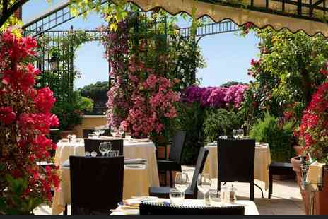 Hotel Victoria Roma - Four Star Elegant Hotel with Romantic Roof Garden for two - Save 80%