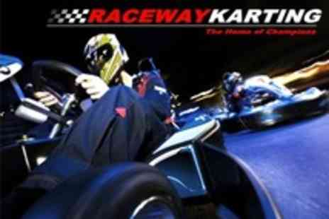 Raceway Karting - Karting 20 Minute Race With Five Lap Qualifier For One - Save 56%