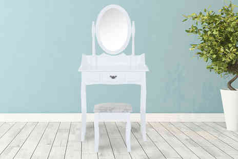 Mhstar - Dressing table set with adjustable mirror and stool - Save 56%